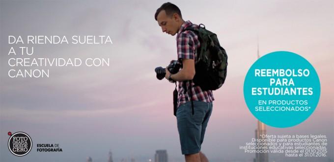 ¡Cashback Canon Para Los Alumnos De Fotografía Desde Cero!
