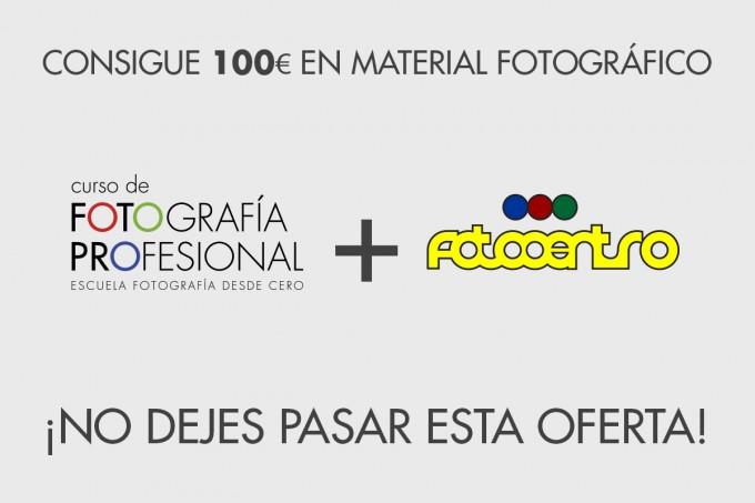 Consigue 100€ En Material Fotográfico Con Fotocentro Y El Curso De Fotografía Profesional