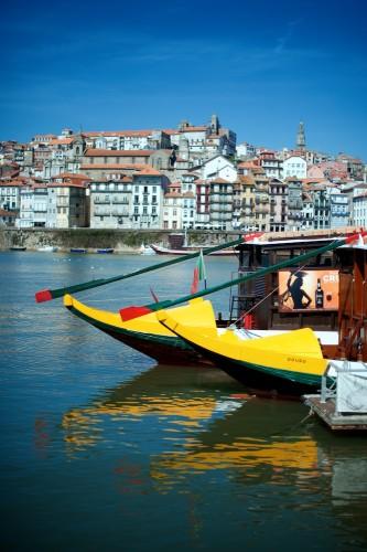Barcos De La Ribeira De Oporto