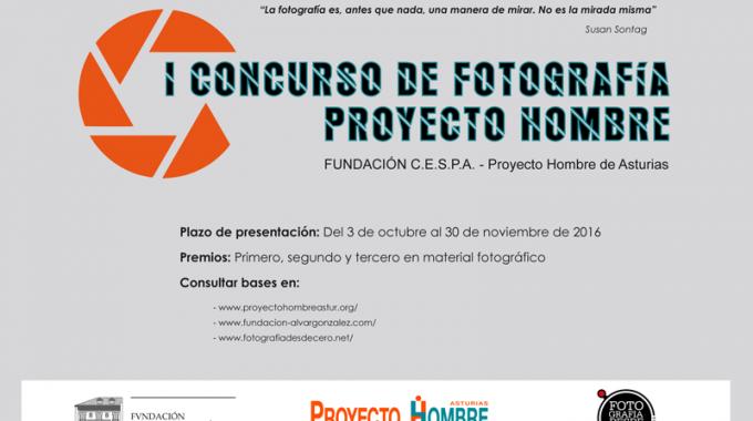 Cartel Curso De Fotografía - Proyecto Hombre
