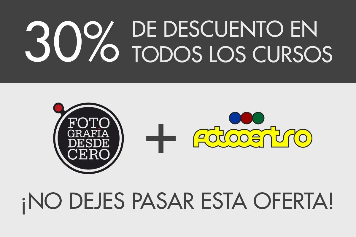 ¡30% En Todos Los Cursos Gracias Al Nuevo Acuerdo Con Fotocentro Gijón!